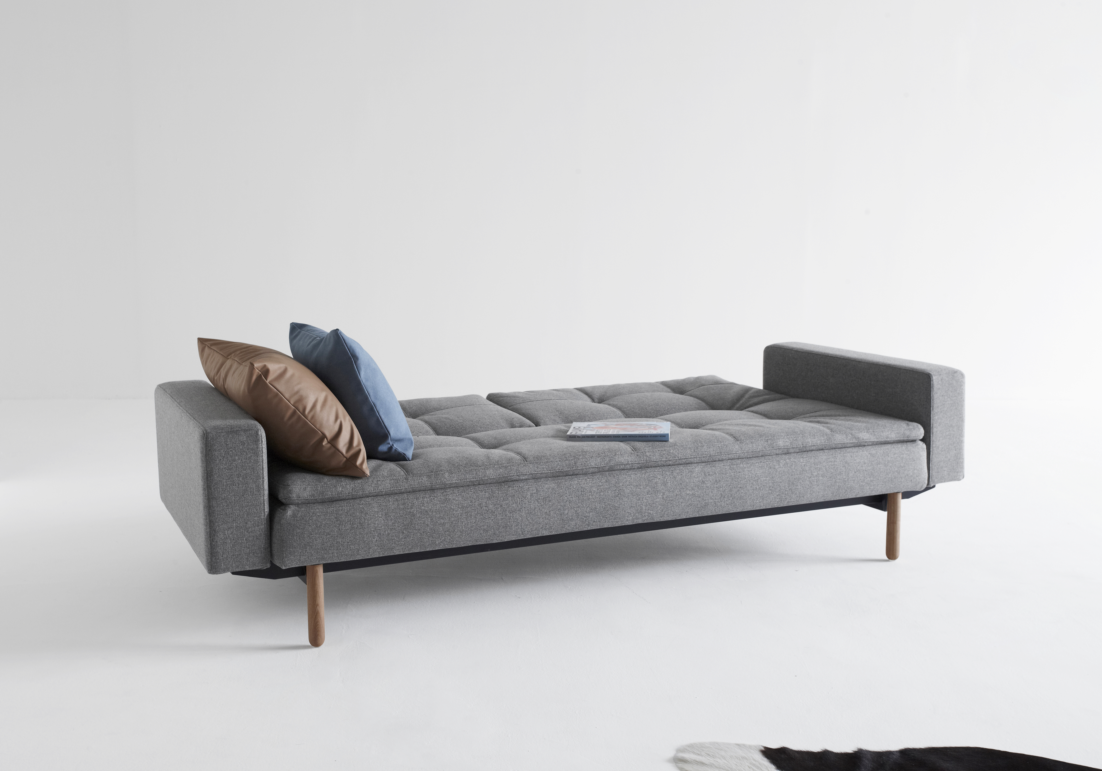 ISTYLE_2015_-_DUBLEXO_SOFA_BED_WITH_ARMRESTS_STEM_LIGHT_WOOD_-_563_TWIST_CHARCOAL_-_BED_POSITION